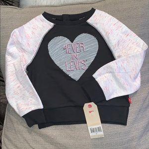 Levi's toddler girl sweatshirt size size 2T